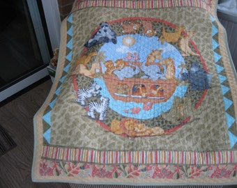Two by Two  Noah's Ark baby and/or toddler quilt
