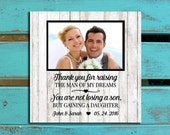 Parents of the Groom gift, Wedding gift for parents, Thank you gift for parents, Parents of the bride gift, Wedding photo mat