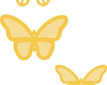 Decorative Die Flutter Layered Butterlies