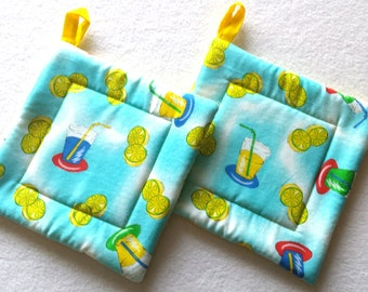 Quilted Pot Holders - Hot Pads - Oven Mitts
