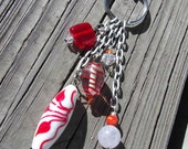 Purse Charm, Keychain, Charms, Fall Inspired Charms, Orange & White Accessories, Women's Accessories
