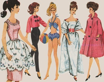 Barbie doll Sewing Pattern: 6260