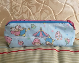 Little twin stars ( carousel blue ) pencil pouch