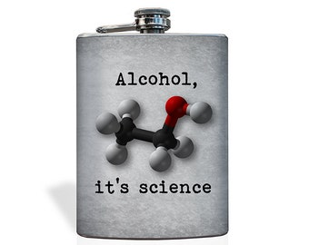It's Science Flask - Stainless Steel 8oz Flask