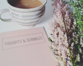 Thoughts & Scribbles - Peach Recycled A5 Notebook