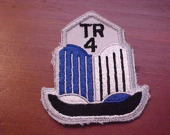 1961-1965 True Vintage TRIUMPH TR4 Logo Patch New Old Stock Condition Rare British Sports Car Memorabilia Must Be Sewn on Clothing