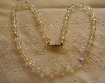 "Vintage Austrian Crystal 18"" Necklace"