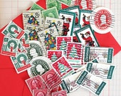 Vintage Christmas Stamps*Christmas Stamp Lot*Christmas Paper Craft Supply*Decoupage, Scrapbooking, Collage, Card Making