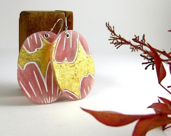 Cherry Blossom Earrings. Polymer Clay Jewelry. Light Earrings. Spring. Gift for Her.