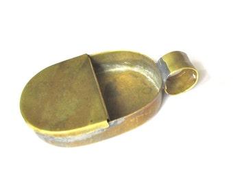Vntg 60s typical Dutch brass miniature street organ money holder aka centenbakje used as ashtray