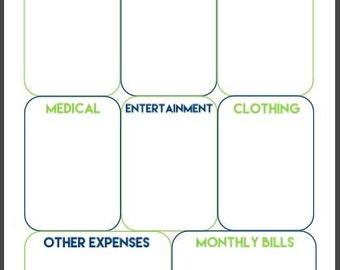 Printable Weekly Expense Tracker Weekly Budget Money