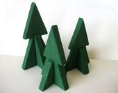 Wooden Pine Trees Reclaimed Wood Christmas Tree Decorations Collapsable and Easy to Store