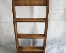Reclaimed Wood Shelf Knick Knack Shelf Spice Rack Recycled Wood