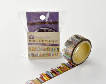 Book Shelf Japanese Die Cut Washi Tape Masking Tape  (YD-MK-001) Price depends on order volume. Buy other items together for BETTER price.
