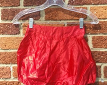 Vintage Red Satin Burlesque Circus Performer Pinup Bloomers