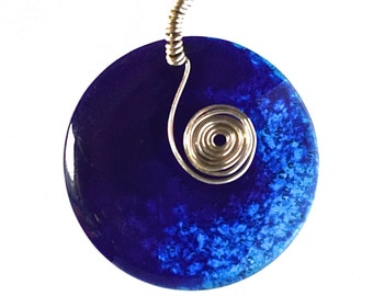 Blue Moon Glass Pendant