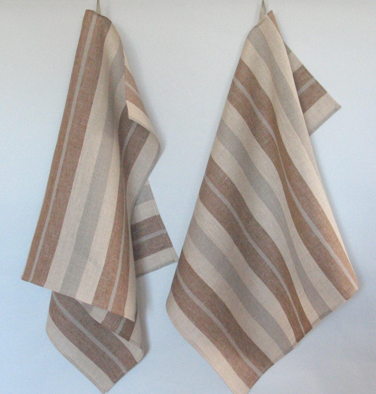 tea towel set stripes striped kitchen towels linen towel linen