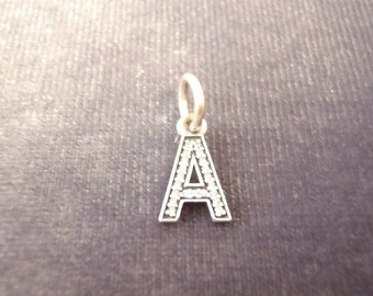 "Sterling Silver Authentic Pandora Cz Initial ""A"" Charm C17"