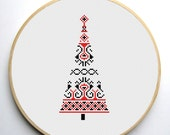 Christmas tree 2  - Modern Cross stitch pattern PDF Instant Download