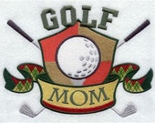 Golf Mom Embroidered Decorative Absorbent White Cotton Flour Sack Towel, Linen Tea Towel, Guest Towel, Hand Towel