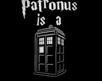 Doctor who HOODY- My patronus is a tardis