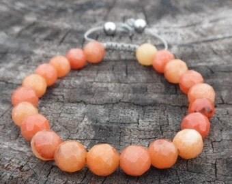 Orange Aventurine Wrist Mala