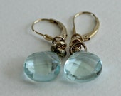 Blue Teardrop Earrings-Bl...