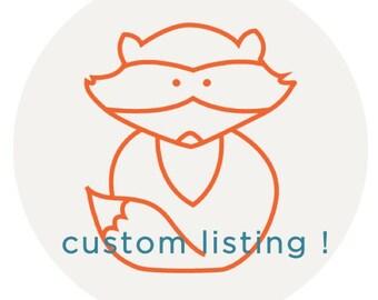 Custom Listing for Paige's Registry