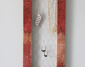 Made to Order Jewelry Organizer Handmade with 1880's Barn Wood - Rustic Barn Wood Jewelry Organizer