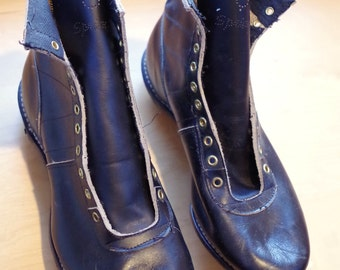 Vintage 1950s or 1960s Black Leather Football Cleats NOS Never Used Springfield Brand Mens Size 8
