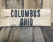 Columbus Ohio sign