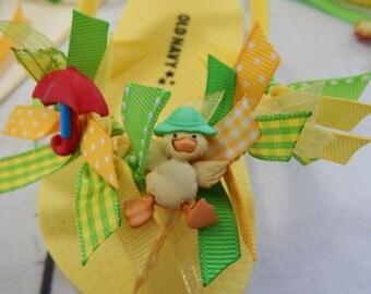 Quack Quack Waddle Waddle---TODDLER SPRING Flip Flops