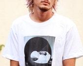Skateboarding Photo T Shirt - Size X-Large - Chris Miller - American Apparel