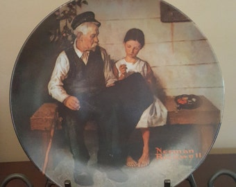 """1979 Norman Rockwell """"The Lighthouse Keeper's Daughter"""" Collector Plate from Knowles China"""