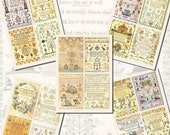 Victorian Sampler Printables of Needlework and Embroidery, POSTCARD SIZE,  (3.5 x 5 Inch  or 12.7 x 8.8 cm), 20 Total
