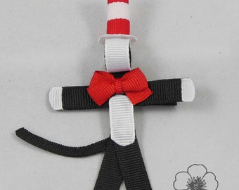 Cat In The Hat Ribbon Sculpture Clip