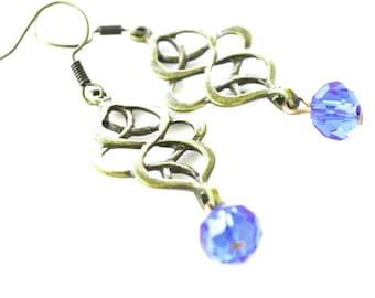Bronze vintage style women earrings