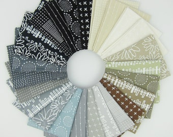 Blueberry Park Neutral Fat Quarter Bundle - Karen Lewis Textiles - Robert Kaufman - 25 Fat Quarters