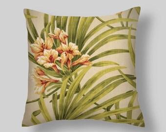 "Pillows, Decorative Pillows, Throw Pillow,"" St. Thomas Garden""  PILLOW COVERS ,Decorative Throw Pillows, Pillow Covers,Beach Decor, Wedding,"