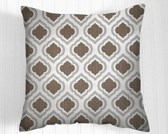 50% OFF CLEARANCE Pillows, BrownPillow, Decorative Pillows, Brown / white  Pillow Covers, Decorative Pillows, Pillows, Throw Pillow, Pillow
