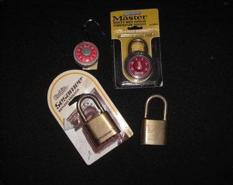 Vintage combination locks
