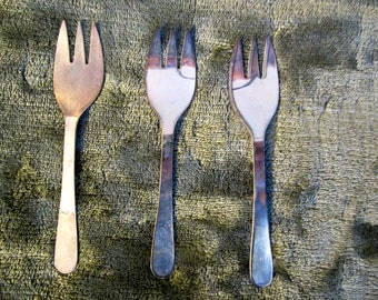 Vintage 1950's Silver Plated Relish Forks Made In Italy