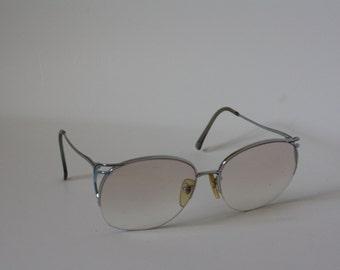 Vintage 1970's Eyeglasses / Big 70s Eyeglasses / Blue Blend Eyeglasses / Oversized Eyewear Glasses / Vintage Eyewear / Deadstock Eyeglasses