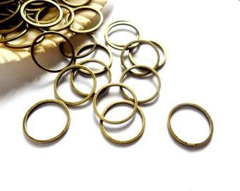 25 Antique Bronze Closed Jump Rings 12mm -11-AB-12