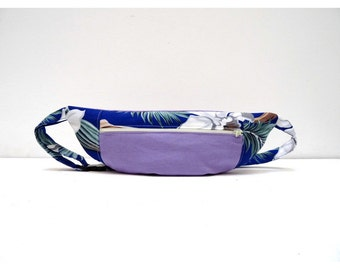 Light purple and blue flowered bumbag