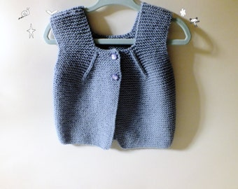 Knitted Baby Vest /Hand Knitted Baby Sweater in Soft  /Newborn vest /Accessory
