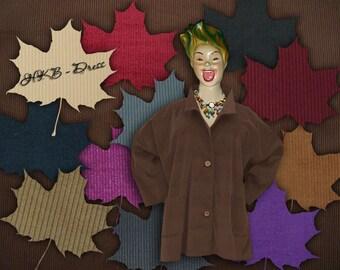 Corduroy, Plus Sizes - US 18 - 34, UK 20 - 36 Layered-look fantastic plus size jacket,chocolate brown