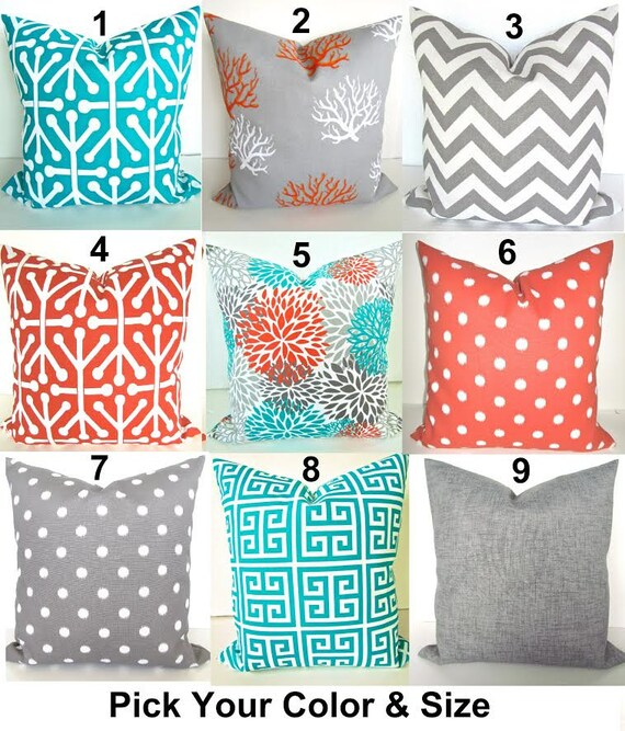 TEAL Outdoor Pillows Teal Throw Pillow Covers Turquoise Outdoor ...