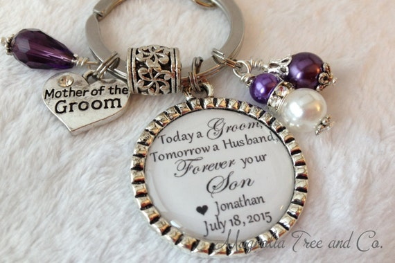 Mother Of The Groom Gift: MOTHER Of The GROOM, Personalized Key Chain, Necklace