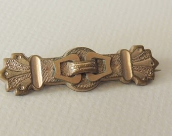 Victorian Gold Wash Brooch